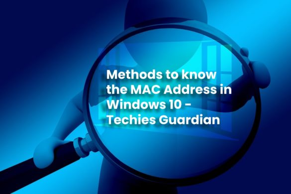 Mac Address in Windows 10