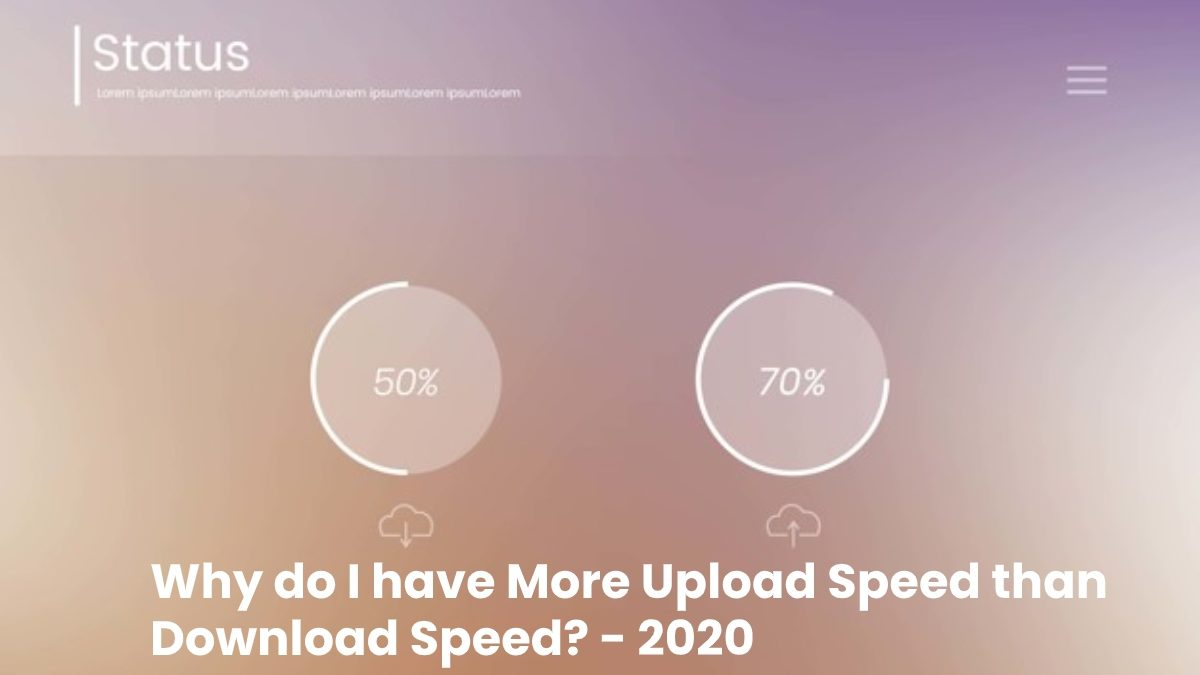 Why do I have More Upload Speed than Download Speed?