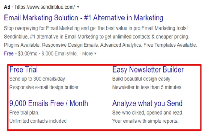 Sitelink Extensions - Types of Google Ads Ad Extensions Every Business Should Know About